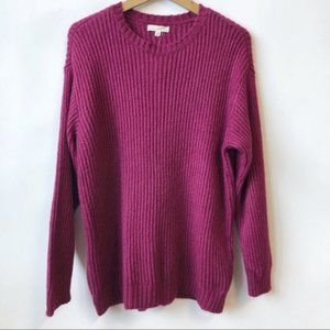 NEW L.A. HEARTS Knit Oversized Sweater Fucsia XS